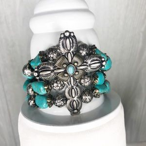 Beautiful Turquoise Cross Bracelet